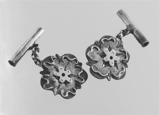 Sterling silver yorkshire rose cufflinks